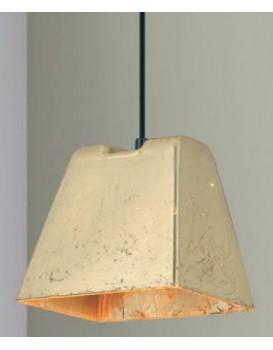PENDENTE Newline Imports PD742 Estilo Antigo Concreto Dourado 1XG9 25W Ø13X15,5X12CM Sala de Jantar Quarto e Cozinha