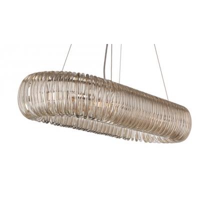 PENDENTE Newline Imports PD791 Lustre Cristal K9 Retangular VIDRO Alumínio 8XG9 40W 97,5X37,5X16 Sala de Jantar Quarto e Cozinha