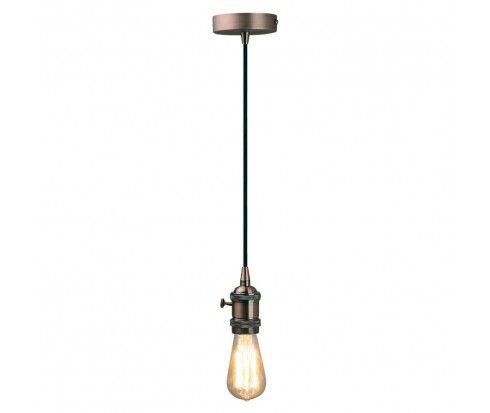 PENDENTE Newline Imports PD963-CO Vertical Estilo Antigo Filamento Alumínio Metal COBRE 1XE27 40W 4,7X10,4CM Sala de Jantar Quarto e Cozinha