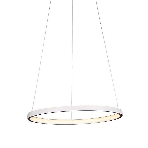PENDENTE Quality Iluminação QPD1300-BR Lustre Redondo Esfera Cristal LED 20W 3000K BRANCO 40X2CM Sala de Jantar Quarto e Cozinha