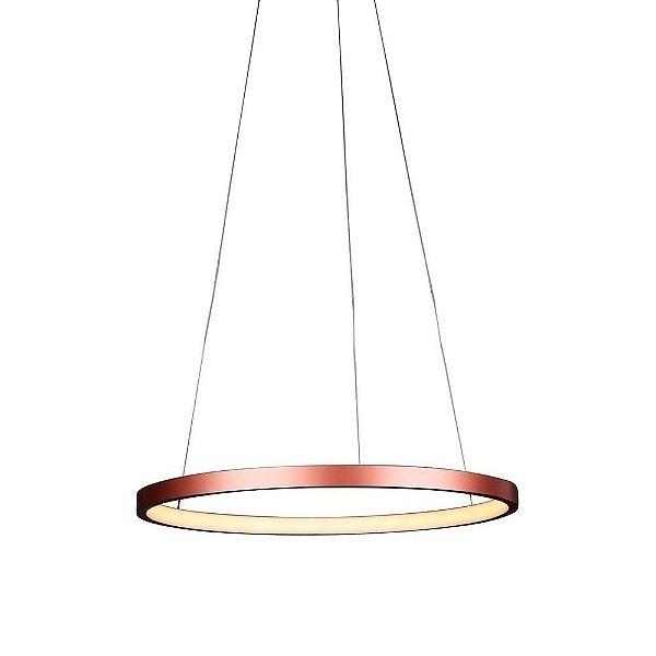 PENDENTE Quality Iluminação QPD1300-CO Lustre Redondo Esfera Cristal LED 20W 3000K COBRE 40X2CM Sala de Jantar Quarto e Cozinha