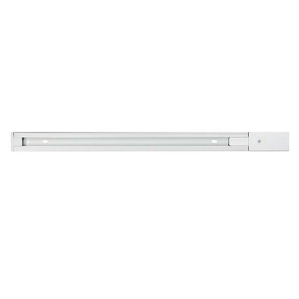 TRILHO ELETRIFICADO QTR905-BR Quality Iluminação 2 VIAS ALUMÍNIO 1M BRANCO
