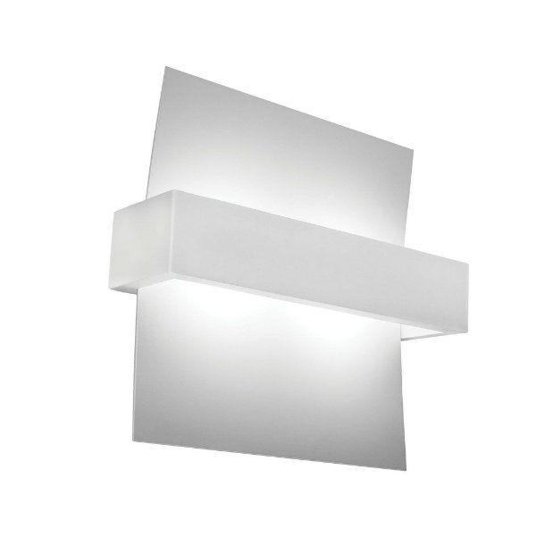 Arandela Newline Iluminação Aile Moderna Linear Curvo Metal 25x24cm 1x PCI LED 6W 196BTBT Parede Muro Banheiro Sala
