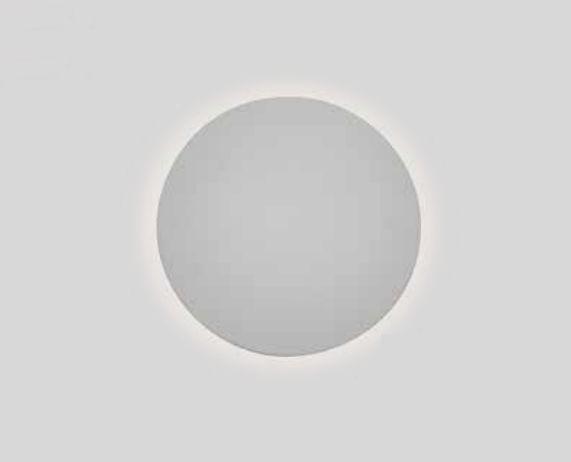 Arandela Newline Iluminação Pleine Lune Redonda Sobrepor Acrílico 9x26,2cm 1x E27 25W Bivolt 110v 220v IN40022BT Parede Muro Banheiro Sala