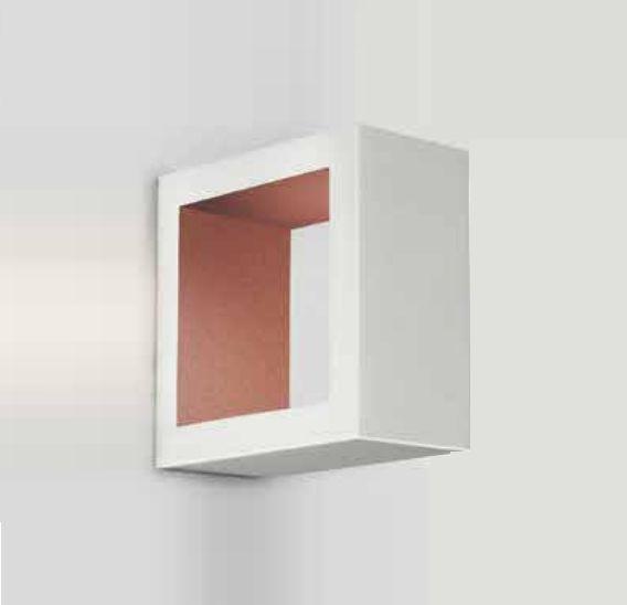 Arandela Newline Iluminação Portara Aberta Quadrada Metal Branco 10x5cm 1x PCI LED 6W Bivolt 110v 220v SN10120BTCO Parede Muro Banheiro Sala