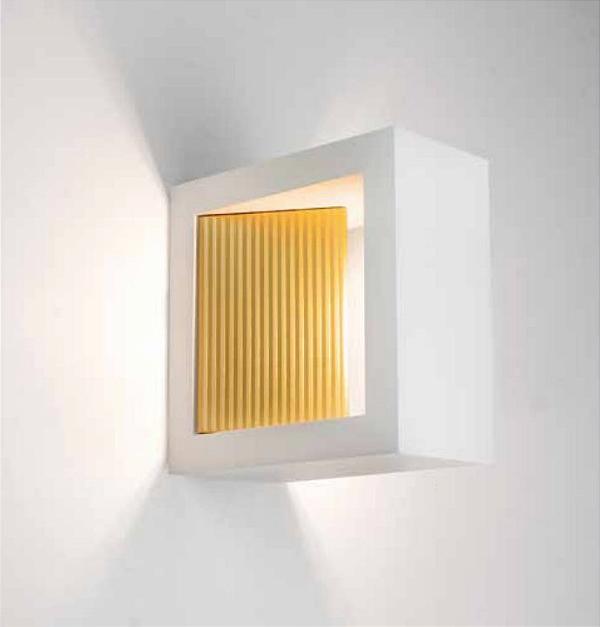 Arandela Newline Iluminação Portara Aberta Quadrada Metal Branco 10x5cm 1x PCI LED 6W Bivolt 110v 220v SN10146BTDO Parede Muro Banheiro Sala