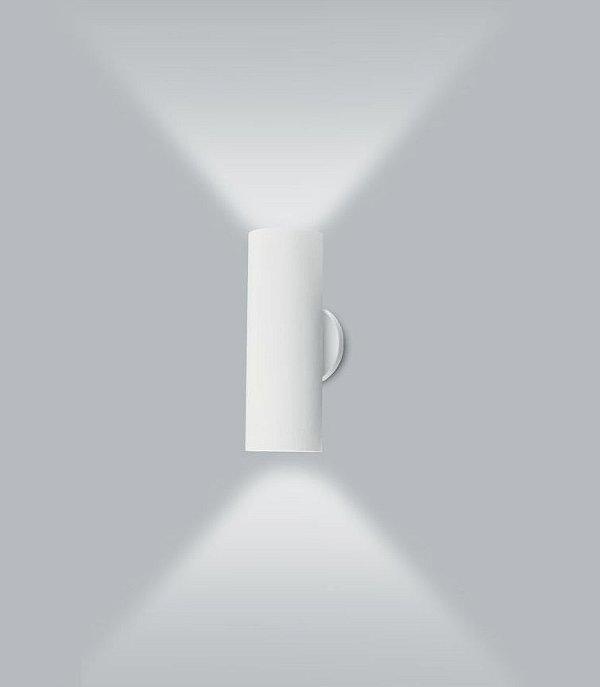 Arandela Usina Design Ducto M Tubo Vertical Metal Branco 40x11cm 2x E27 Bivolt 110v 220v16257-40 Sala Estar Entradas