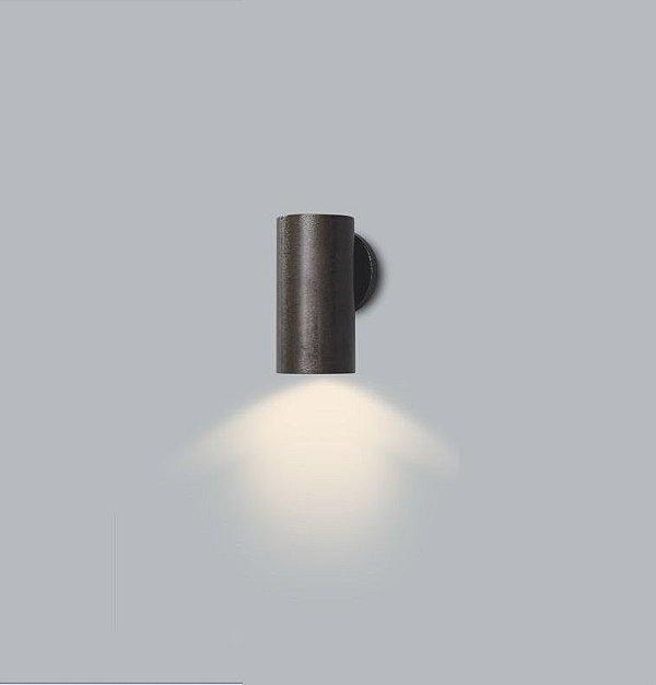 Arandela Usina Design Ducto PP Tubo Vertical Metal Preto 18x11cm 1x E27 Bivolt 110v 220v16257-20 Sala Estar Entradas