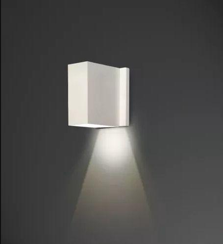 Arandela Usina Design Amb. Externo Tubo Retangular Fechada Metal Fosco 08x11 Celly G9 5261/8 Garagens Jardins