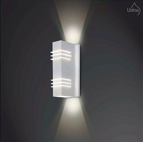 Arandela Usina Design Interna Metal Tubo Retangular Decorativa 8x37 Cleo G9 5230/37 Banheiros Lavabos Escadas