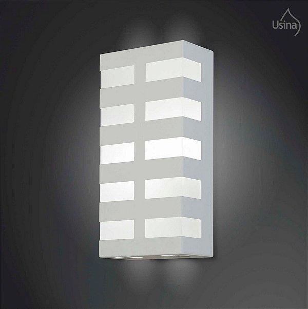 Arandela Usina Design Interna Retangular Metal Decorativa Luz Frontal 15x20 2012 E-27 5135/20 Escadas Salas