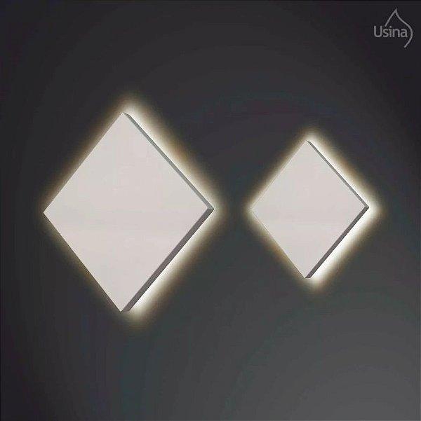 Arandela Usina Design Interna Slim Quadrada Metal Fosco Luz Indireta 26x26 Home G9 255/26 Quartos Salas