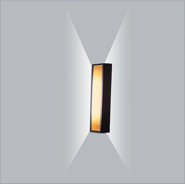 ARANDELA Usina Design PUCH RETANGULAR LED 5745/10 Sala Estar Banheiros Lavabos Quartos 1xPCI LED 5W 110 220V 100X51X50