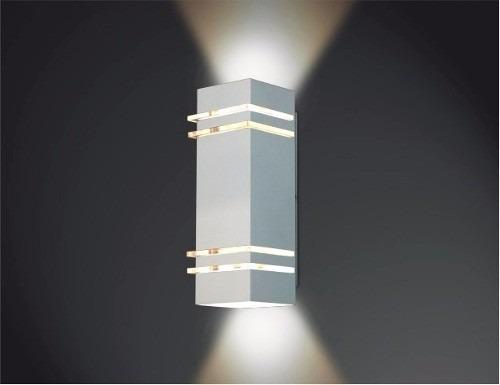 ARANDELA Usina Design QUADRADA AMARILIS Amb. Externo 5236/40 Sala Estar Banheiros Lavabos Quartos 2 G9 105X400X110