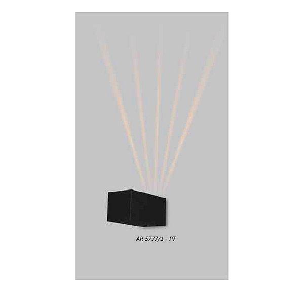 ARANDELA Usina Design QUADRADA FECHADA 1 LENTE FRISADA 5777/1 Sala Estar Banheiros Lavabos Quartos 1xPCI LED 5W 110 220V 90X90X180