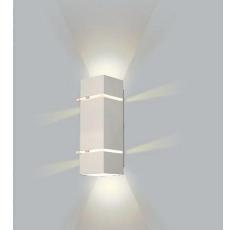 ARANDELA Usina Design Quadrado KIARA Amb. Externo 5225/28 Sala Estar Banheiros Lavabos Quartos 2 G9 105X280x110