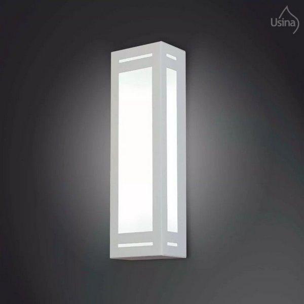 ARANDELA Usina Design RETANGULAR 5045/1 Sala Estar Banheiros Lavabos Quartos 1 E27 120x250x80