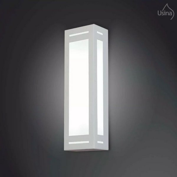 ARANDELA Usina Design RETANGULAR 5046/2 Sala Estar Banheiros Lavabos Quartos 2 E27 120x400x80