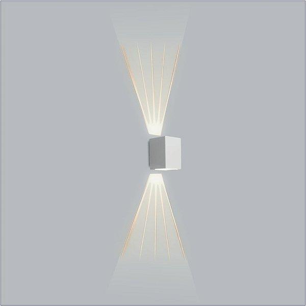 ARANDELA Usina Design Retangular AVENCA 01 VIDRO 01 LENTE FRISADA 5118/1 Sala Estar Banheiros Lavabos Quartos 1 PALITO LED CURTA 150x120x150