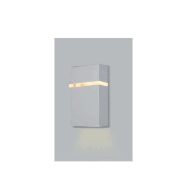 ARANDELA Usina Design Retangular DROPS com FRISO PP INTERNA 5267/10 Sala Estar Banheiros Lavabos Quartos 1 G9 80x105x100