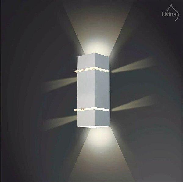 Arandela Usina Design Retangular Amb. Externo Metal Fosco Decorativa 56x11 Kiara G9 5225/56 G Muros Jardins