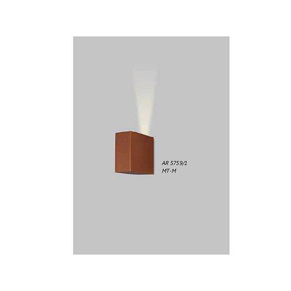 ARANDELA Usina Design Retangular FECHADA 1 VIDRO 5759/1 Sala Estar Banheiros Lavabos Quartos 1xPCI LED 5W 110 220V 50x110x100