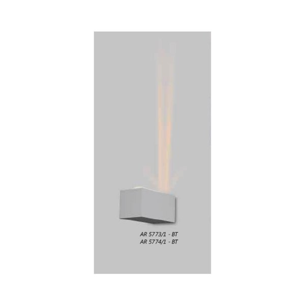 ARANDELA Usina Retangular FECHADA 1 VIDRO 5774/1 Salas Banheiros Quartos 1xPCI LED 5W(110 220V) 90X90X180