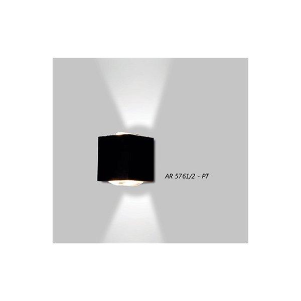 ARANDELA Usina Design Retangular LENTE CÔNCAVA 5761/2 Sala Estar Banheiros Lavabos Quartos 2xPCI LED 5W 110 220V 90x100x90
