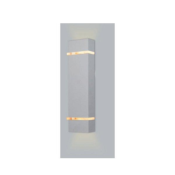 ARANDELA Usina Design Retangular SLIM Amb. Externo 5270/40 Sala Estar Banheiros Lavabos Quartos 2 G9 60x105x400