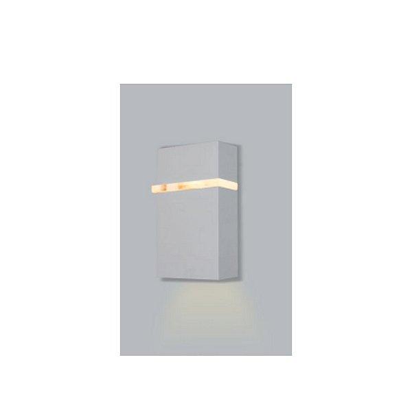 ARANDELA Usina Retangular SLIM FECHADA 1 LADO EXTERNA 5270/18 Salas Banheiros Quartos 1 G9 60x105x180