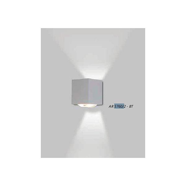ARANDELA Usina Design Retangular VIDRO LENTE CÔNCAVA 5760/2 Sala Estar Banheiros Lavabos Quartos 2xPCI LED 5W 110 220V 90x100x90