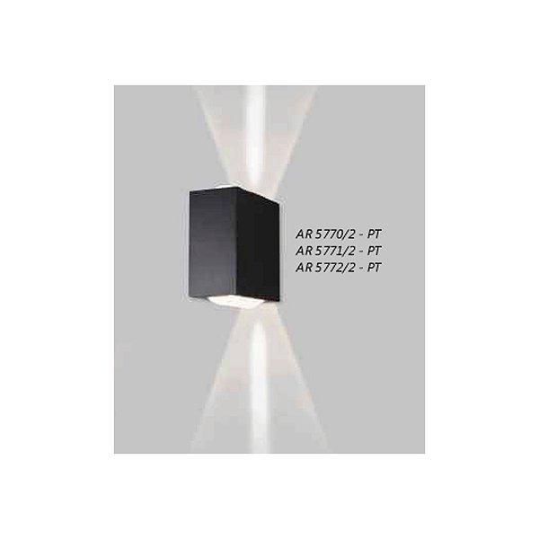 ARANDELA Usina Design Retangular VIDRO LENTE CÔNCAVA 5770/2 Sala Estar Banheiros Lavabos Quartos 2xPCI LED 5W 110 220V 90X180X180