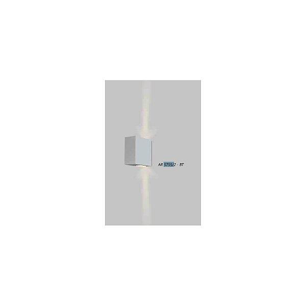 ARANDELA Usina Design Retangular VIDRO VIDRO 5757/2 Sala Estar Banheiros Lavabos Quartos 2xPCI LED 5W 110 220V 50x110x100