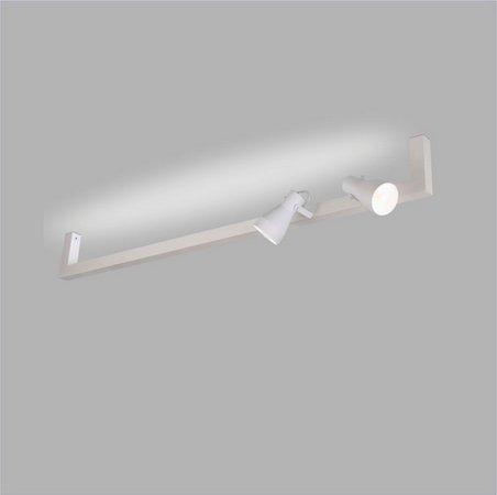 ARANDELA Usina Design Trilho PERFIL U 45mm 02 SPOTS 16380/130 01T8120Cm 02 GU10 MR16 1300x170x120
