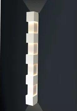 Balizador Arandela Usina Interna Retangular 9x45 Luminária Parede Sala Quarto Varanda Corredor 5246/45 Usina