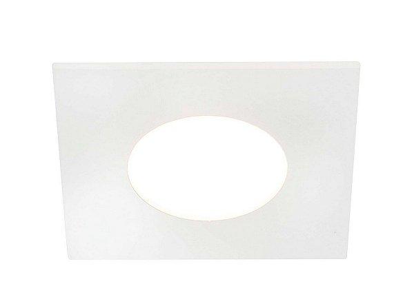 Balizador Lisse Quadrado Embutir Ambiente Externo Metal 7,9x6,3cm 1x PCI LED 6W IN10435LEDBT Parede Muro Banheiro Sala