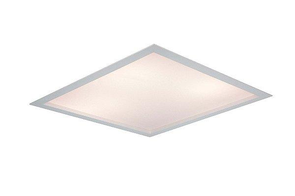 Luminária Newline Iluminação Flat Quadrada Acrílico Embutir Alumínio 63,8x10,2cm 4x G13 T8 Tubo IN8012ABT Sala Quarto e Cozinha
