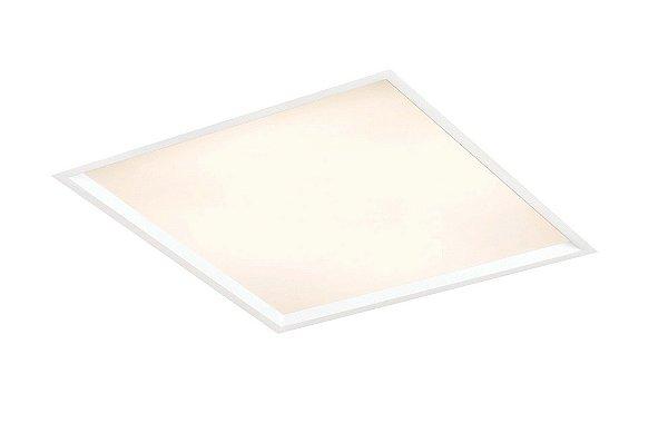 Luminária Newline Iluminação Slim Embutir Quadrada Alumínio Acrílico 63,8x10,2cm 4x G13 T8 18W IN9012ABT Sala Quarto e Cozinha