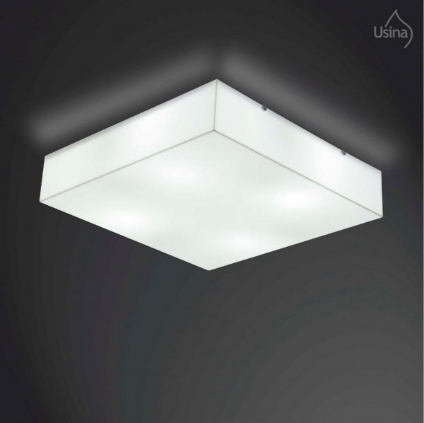 Lustre Plafon Usina Design Quadrado Acrílico 55x55 Luminária Sala Quarto Banheiro Lavabo Cozinha 10100/55 Usina Design