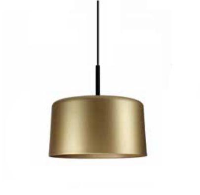 Pendente Newline Iluminação Bilboque Bacia Redondo Alumínio Dourado 38,5x50cm Lâmpada E27 25W Bivolt 110v 220v 113DOPT Sala de Jantar Quarto e Cozinha