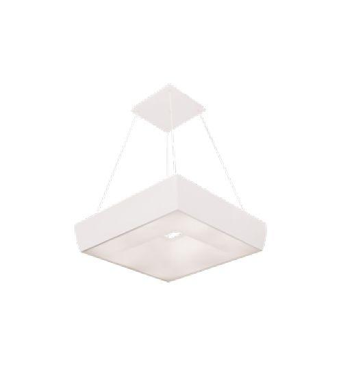 Pendente Newline Iluminação Massu Aberto Acrílico Metal Branco 12x45cm 4x E27 25W Bivolt 110v 220v SN10010BT Sala de Jantar Quarto e Cozinha