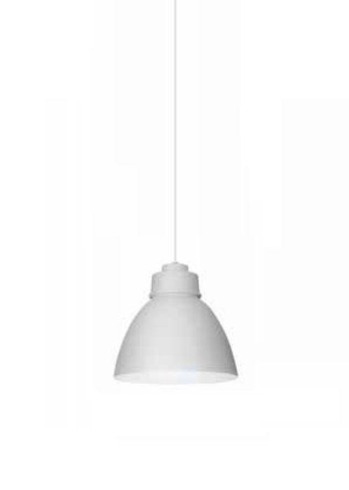Pendente Newline Iluminação New Industrial Conico Oval Metal Branco 21x25cm Lâmpada E27 25W SNT367BT Sala de Jantar Quarto e Cozinha
