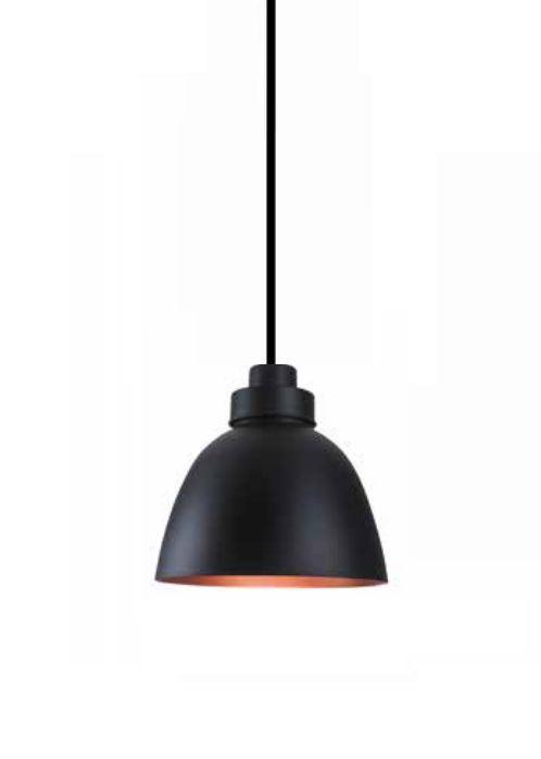 Pendente Newline Iluminação New Industrial Conico Oval Metal Preto 39x40cm Lâmpada E27 25W SNT366PTCO Sala de Jantar Quarto e Cozinha