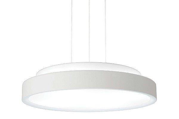 Pendente Newline Iluminação Ring Disco Redondo Metal Acrílico 10,5x40cm 3x E27 25W Bivolt 110v 220v 9085BT Sala de Jantar Quarto e Cozinha