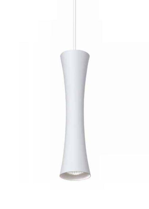 Pendente Newline Iluminação Sottile Tubo Curvo Pendurado Metal Branco 30x12cm Lâmpada PAR16 50W ST20011BT Sala de Jantar Quarto e Cozinha