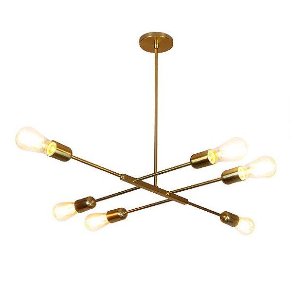 PENDENTE Usina Design ATHENAS 16285/6 Quartos Sala Estar Cozinhas 6E27 565x850x535