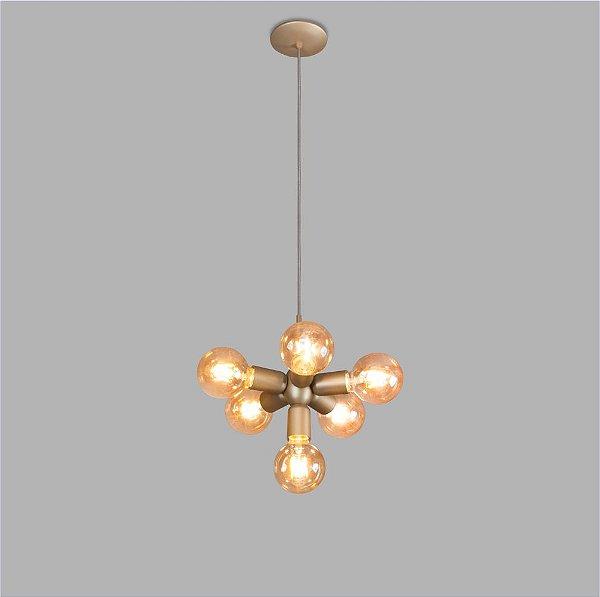 PENDENTE Usina Design AXIS 16305/6 Quartos Sala Estar Cozinhas 6E27 Ø180x260x1000