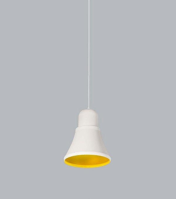 Pendente Usina Design Beluga medio Conico Metal Branco 25x21cm 1x E27 Bivolt 110v 220v16025-20 Mesas Balcões