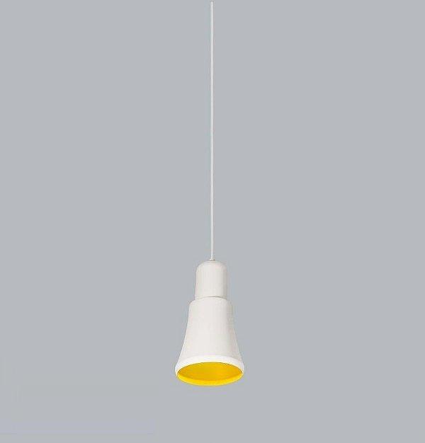 Pendente Usina Design Beluga Pequeno Conico Metal Branco 25x13,5cm 1x E27 Bivolt 110v 220v16025-14 Mesas Balcões