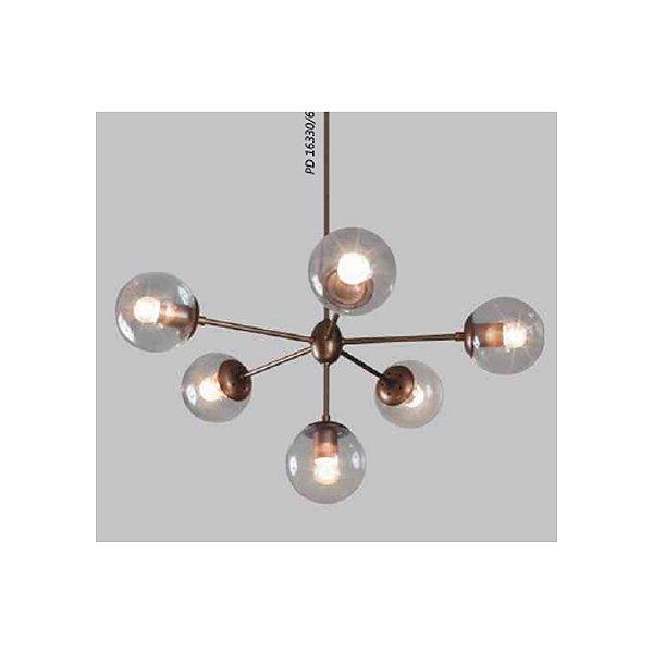PENDENTE Usina Design BUBLES 16330/6 Quartos Sala Estar Cozinhas 6E27 G45 Ø730 x 650